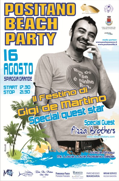 Positano Beach Party 2011